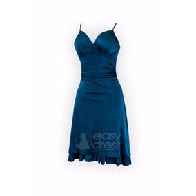 e958947283 Vestido Azul Turquesa Con Flores Mujer Casuales - Vestidos en ...