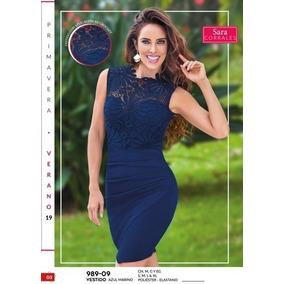 a6ef25a17 Vestido Moda Primavera Verano Azul Marino Cklass 989-09