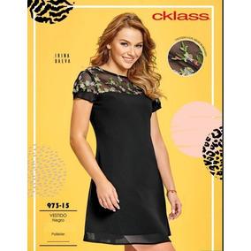 2021ef6617 Cklass Vestido Negro 973-15 Primavera Verano 2018 + Regalo