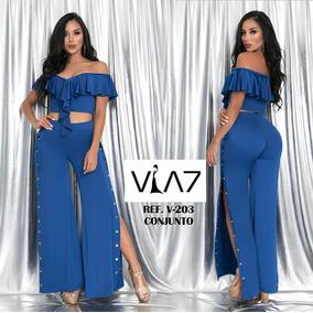 b93006f98c97a Conjuntos Para Mujer Pantalon Y Blusa - Ropa y Accesorios en Mercado ...