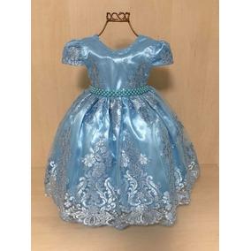 Vestido infantil azul piscina