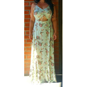 6c1f19c9a2 Vestido Noronha Seda Farm - Vestidos Femininas Azul celeste no ...