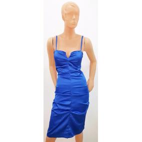 8c17b7797 Vestido Azul Francia Elastizado Rodilla - Vestidos de Mujer en ...