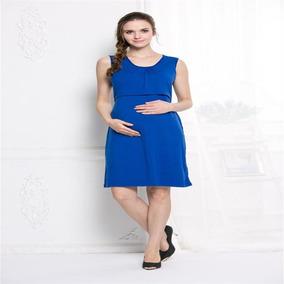 abc4cc4ea Vestido De Maternidad Corto Casual Sin Mangas Ropa Embarazo