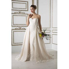 4bd6b8982 Vestido De Novia Con Cauda Desmontable