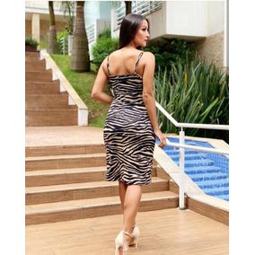 d292f1903555 Vestido Com Estampa De Zebra Curto - Vestidos Femininas no Mercado ...