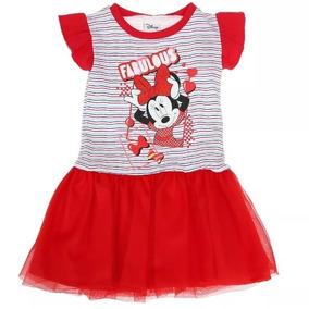 a3c28d816 Vestido De Minnie Manga Corta Con Tul Hermoso Diseño Colores