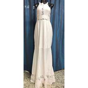 fda63861e 1801-17 Vestido Blanco Largo Fiesta Playa Boda