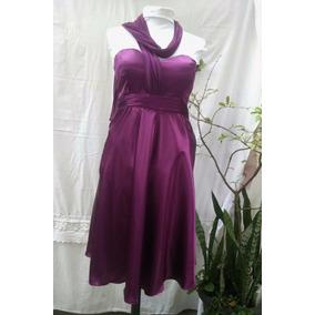 5f308e84b10 Vestido De Festa Vinho Acetinado Tqc Com Echarpe Luxo