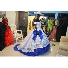 1a38ba26e5 Vestidos De 15 Años Azul Rey De Charra - Vestidos S en Mercado Libre ...