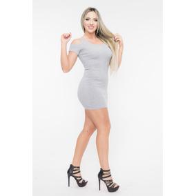 e52942ba5 Roupa Feminina Vestido Curtinho - Vestidos Curtos Femininas Prateado ...