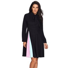 ca86abf45 Vestido Negro Moda Coreana De Noche Formal Envío Gratis