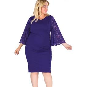 2b2862ea3d8 Hermosos Vestidos Tallas Extra Plus Azul Marino Envío Gratis