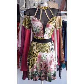 6bb3feb8c680f Vestido Cig Curto Estampado Verde - Vestidos De Festa Curtos ...