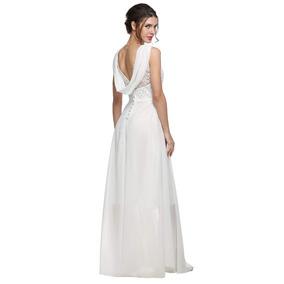 Vestido de novia con tono azul