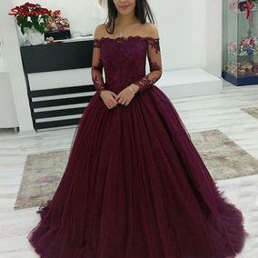 Hobby Noiva Marsala Vestidos Femininas Bordô No Mercado