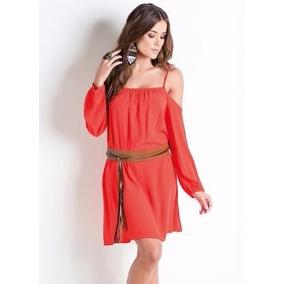 599b4bffc5 Vestido Ambro A Ombro - Vestidos Curtos Femininas Laranja no Mercado ...