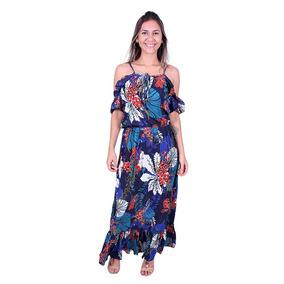 8366e5a5a2de0 Vestido Longo Estampado Lemise Vv-7230 - Asya Fashion