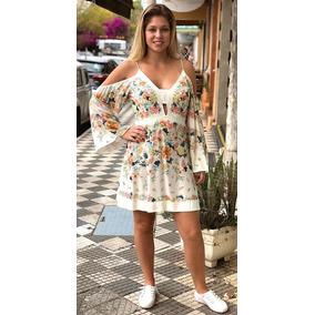 5e5152af4 Vestido Floral Transpassado Farm - Vestidos Femininas Branco em São ...