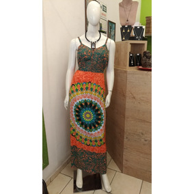 53f1c37c2e Vestido Indiano Florido Vp75 Mandala - Vestidos Femininas no Mercado ...