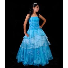 2fb7cfae9 Venta  Alquiler De Vestido Completo Turquesa De 15 Años