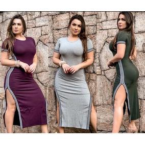 48a979b25b5 Vestido Adidas Lancamentos - Vestidos Femininas Cinza claro em São ...