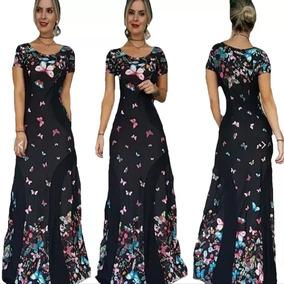 5272882f4 Vestido Farm Estampa Borboleta Longos - Vestidos Femininas Preto no ...