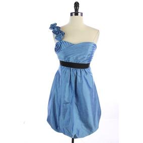 ccfc394f0 Mini Vestido Tipo Burbuja Marca Phoebe Couture De Seda