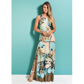 50b671e67 Vestido Longo Mix Floral Quintess - Calçados, Roupas e Bolsas no ...