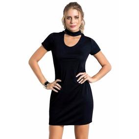 040f2e6cb Vestido Gola Choker Verao 2017 - Vestidos no Mercado Livre Brasil