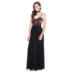 63972496d8447 Vestido Largo Corset Floral Eva Brazzi