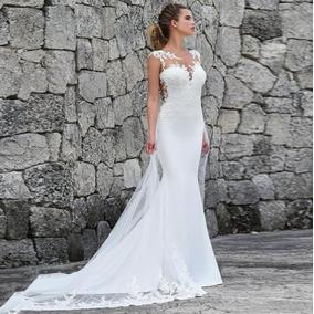 ddef82765 Belissimo Vestido De Noiva Importado Branco Ou Marfim - Calçados ...