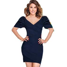 c03a5e9638f0a Vestidos Terra Y Cklass - Vestidos de Mujer Azul oscuro en Mercado ...