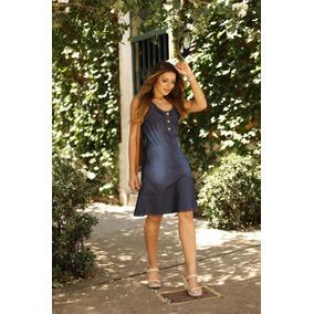 7f1e21526 Vestido Com Ziper Inteiro Atras - Vestidos Médios Femininas no Mercado  Livre Brasil