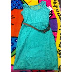 60717989f Vestido Encaje Azul Turquesa en Mercado Libre México