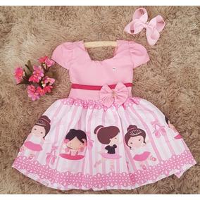 8ba2c509fc Vestido Rosa Tule Bailarina 1 Ano - Vestidos De Festa para Meninas ...