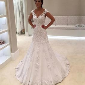 9c243e987 Vestido De Noiva Modelo Livia I Dois Em Um no Mercado Livre Brasil