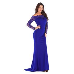 Vestidos de fiesta largos color azul rey