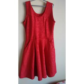 Vestidos Malha Vermelho Tam P M G