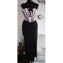 Tadashi Llilie Rubin Vestido Noche Corset Strapless Xs