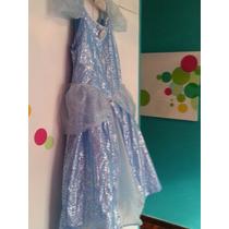 Disfraz Vestido Niña Princesa Cenicienta O Frozen Talle 14