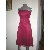 Vestido Fiesta Rojo Corto Strapless