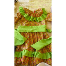 Impecable Vestido Cueca Niña Talla 3-4