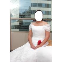 Vestido De Novia Con Encaje (corset Y Falso)