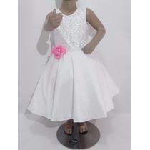 Vestido Bautizo, Pajecita Novia Para Niña Talla 4