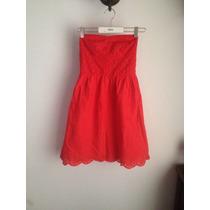 Lindo Vestido Rojo Strapless