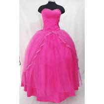 Vestido De Quince Años Con Pedrería Color Fucsia