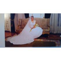 Vestido De Novia 1 Postura (la Casa Blanca) + Accesorios