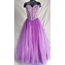 Vestidos De Quince Años Talla L Color Morado
