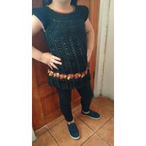 Vestido Tejido Crochet Talla 6/8